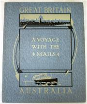 Sale 8460C - Lot 26 - A Voyage with the Mails between Brisbane to London Great Britain and Australia Fourth edition. Printed and published by London Stere...