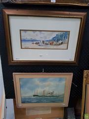 Sale 8613 - Lot 2069 - R P Silsby (2 works) - Wilson Inlet, Maritime Scene, watercolours, 37.5 x 53cm, 34 x 35cm
