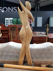 Sale 8697 - Lot 1021 - Modernist Timber Sculpture