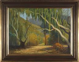 Sale 9094 - Lot 2009 - Charles Wheeler (1881 - 1971) Willow Trees oil on canvas, frame: 59 x 73cm, signed lower left -