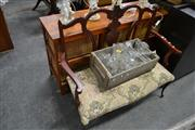 Sale 8115 - Lot 1415 - Finely Carved 2 Seater Settee (some restoration)