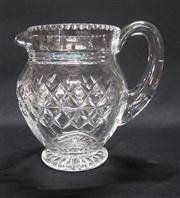 Sale 8298 - Lot 66 - English Stuart hand cut lead crystal jug. Ht: 17cm