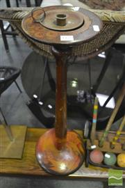 Sale 8338 - Lot 1170 - Pokerwork Candle Stand