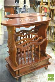 Sale 8392 - Lot 1032 - Pair of Side Tables with Magazine Rack Bottoms
