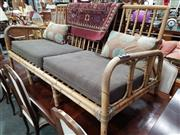 Sale 8744 - Lot 1057 - Cane Two Seater Lounge