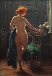 Sale 8799 - Lot 570 - Arvid Nyholm (1866 - 1927) - Nude Study 65.5 x 45cm