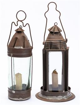 Sale 9130E - Lot 29 - Two miners lanterns, Height of taller 34cm