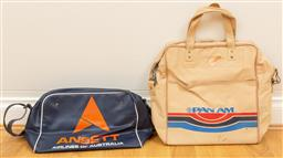 Sale 9165H - Lot 126 - Two vintage aeroplane bags including Ansett and Panam