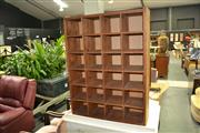 Sale 8046 - Lot 1076 - Timber Pigeon Hole Unit