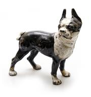 Sale 8202A - Lot 40 - A vintage French bulldog cast iron door stop with original paint, approx L 25cm