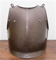 Sale 8338A - Lot 69 - An iron breast plate from the Castambul collection, H 42cm