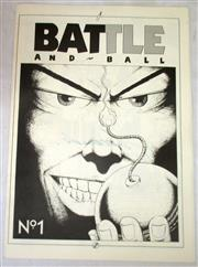 Sale 8460C - Lot 28 - Battle and Ball (comic) 1987. 9 pages. Unusual cricket comic written and illustrated by Anthony Larcombe. Signed. Good.