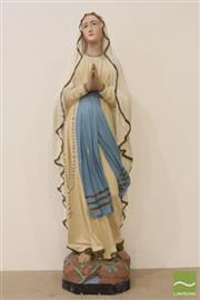 Sale 8490 - Lot 63 - Ceramic hand painted statue of Mary