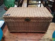 Sale 8601 - Lot 1013 - Wicker Lift Top Basket