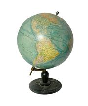 Sale 8888H - Lot 14 - Antique French globe terrestre by Girard et Barrere of Paris 46 x 30