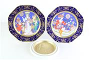 Sale 8989F - Lot 621 - Cabinet Plates incl 2 Hutschenreuther Weihnachtsteller 1979 & 1981 signed Ole Winther, Weihnachtsteller 1977