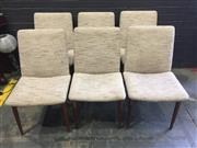 Sale 9022 - Lot 1052 - Set of Six G-Plan Dining Chairs with Upholstered Back & Seat (H:85 x W:50 x D:60cm)