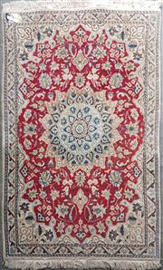 Sale 9043 - Lot 1030A - Persian Red and Cream Tone Floor Rug (135 x 88cm)