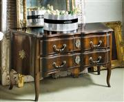 Sale 9087H - Lot 42 - Antique French c1920 2 drawer commode with bronze sun king mounts  80T x 140W x 50D