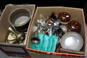Sale 8139 - Lot 2308 - Two Boxes Of Sundries incl Metalwares