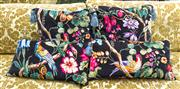 Sale 8298 - Lot 28 - Four feather Birds of Paradise Cushions with tassells, two lozenge and two square.
