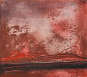 Sale 8374 - Lot 553 - Stanislaus (Stan) Rapotec (1913 - 1997) - Red Centre, 1966 122 x 137cm