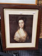 Sale 8699 - Lot 2084 - 2 Prints: Thomas Gainsborough - Mrs Horton & M.Brice - Owl & Chic