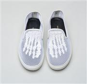 Sale 8740F - Lot 101 - A pair of Mara & Mine The Jem Skull mesh slip ons, size 9, with box