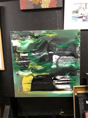 Sale 8797 - Lot 2034 - Anton Pulvirenti - Untitled (Abstract Green) oil on canvas 76.5 x 76.5cm, unsigned -