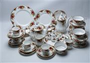 Sale 8864 - Lot 94 - A Royal Albert Old Country Roses Dinner and Tea Setting for 6 Persons