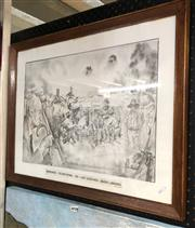 Sale 8865 - Lot 2033 - Framed Sketching Of Memories Of Anzac Landing By Ted Mathews