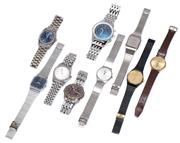 Sale 9010H - Lot 98 - Nine mens wrist watches to include and omega example