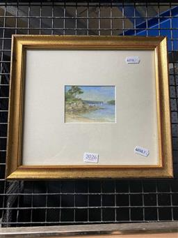 Sale 9159 - Lot 2026 - A Group of 3 framed original paintings including Alison Coote, largest 45 x 55 cm, -