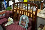Sale 8019 - Lot 1075 - Timber Double Bed Frame