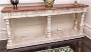 Sale 8298 - Lot 13 - A French Timber and partial painted Console table 182 x 42 x 82cm