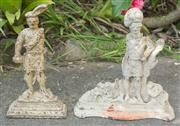 Sale 8375A - Lot 4 - A pair of cast iron door stops in the form of soldiers