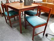 Sale 8625 - Lot 1037 - Quality McIntosh Rosewood Dining Setting incl. Table and Four Chairs (Table H: 74 L: 122 W: 97cm)