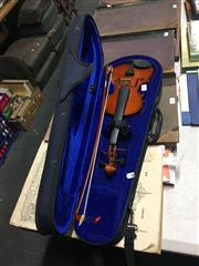 Sale 8702 - Lot 2400 - Cremona Childs Violin in Case with Bow a/f
