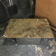 Sale 8758 - Lot 223 - Fossil Motality Plate (Pleistocene Period) made into an occasional table (150 x 90cms)
