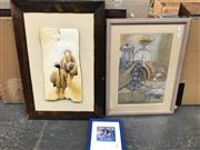 Sale 9019 - Lot 2082 - Group of Assorted Paintings incl. watercolours by A Simmond (2), Decorative Print Save the Rock Alcatraz Preservation Project,Lati...