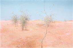 Sale 9214 - Lot 511 - CHARLES GOSFORD (1921 - 1992) Desert Landscape, 1989 oil on canvas 151 x 228 cm (frame: 157 x 234 x 4 cm) signed and dated lower right