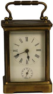 Sale 8008 - Lot 24 - French Brass Carriage Clock