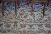 Sale 8093 - Lot 1833 - Large Persian Tabriz Silk Inlaid Carpet (342 x 247cm)