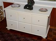 Sale 8098A - Lot 81 - A White painted six drawer cabinet width 120cm