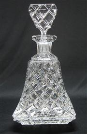 Sale 8298 - Lot 20 - A good quality Art Deco hand cut lead crystal decanter, Ht: 26cm