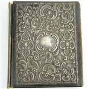Sale 8356 - Lot 36 - English Hallmarked Sterling Silver Victorian Mounted Album