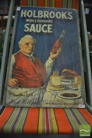 Sale 8338 - Lot 1677 - Retro Holbrooks Worcestershire Sauce Advertising Sign