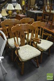 Sale 8338 - Lot 1674 - Set of 4 Country Style Arm Chairs with Cushioned Seats