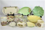 Sale 8461 - Lot 58 - Carlton Ware Foxglove Dish with Other Wares incl Royal Commemorative