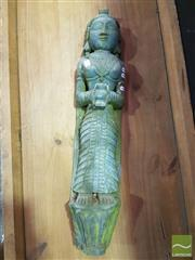 Sale 8532 - Lot 1005 - Carved Timber Thai Lady